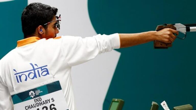 Saurabh Chaudhary finished seventh in shooting