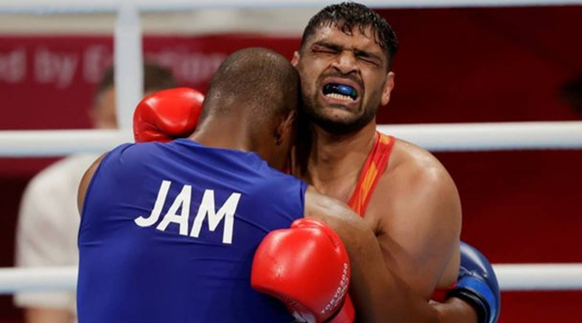 Read more about the article Satish Kumar Fought With 13 Stitches in Tokyo Olympics